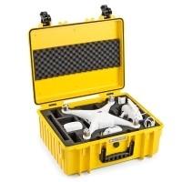 Walizka transportowa B&W T6000 do drona DJI Phantom 4 / 4 Adv / 4 Adv Plus / 4 Pro / 4 Pro Plus żółta