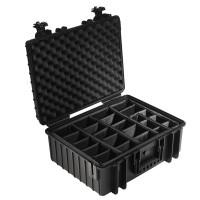 Walizka transportowa B&W outdoor.cases Typ 6000 RPD z przegrodami Czarna