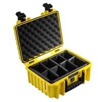 Walizka transportowa B&W outdoor.cases Typ 3000 RPD żółta z przegrodami
