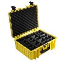 Walizka transportowa B&W outdoor.cases Typ 6000 RPD z przegrodami Żółta