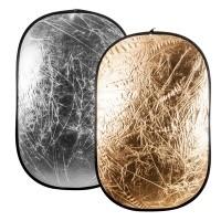 Blenda złoto srebrna Quantuum 122x91 cm