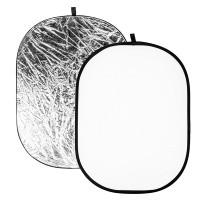 Blenda biało srebrna Quadralite 180x120 cm