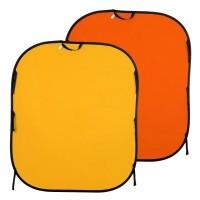 Tło składane Żółte/ Pomarańczowe 1,8 x 2,15m Lastolite LL LB6753