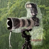 Osłona na aparat z lampą OP/TECH Rainsleeve Flash