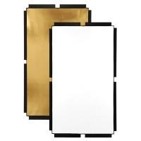 Materiał złoty/biały do panelu Fomex Peri Bounce PFR1120