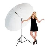Parasolka fotograficzna biała transparentna Lastolite LL LU7907F Mega Umbrella