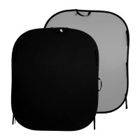 Tło składane Czarne/ Szare 1,5 x 1,8m Lastolite LL LB56GB