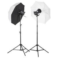 Zestaw lamp błyskowych Quadralite Up! 600 + blenda 5w1 95x125cm gratis