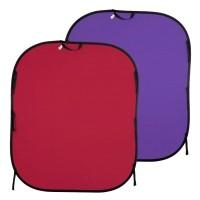 Tło składane Czerwone/ Fioletowe 1,8 x 2,15m Lastolite LL LB6752