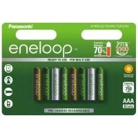 Akumulatorki Panasonic ENELOOP BOTANIC R03/AAA 750mAh - 8szt - WYSYŁKA W 24H