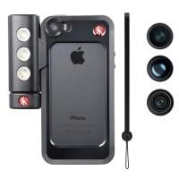 Pokrowiec na iPhone 5/5s + SMT LED + 3 obiektywy - Manfrotto MKLOKLYP5S