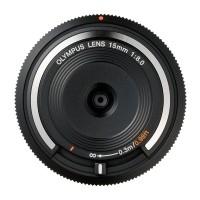 Obiektyw Olympus Body Cap Lens 15 mm f/8.0 czarny (BCL-1580)