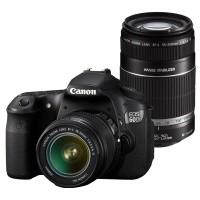 Canon EOS 60D + obiektyw 18-55mm IS + obiektyw 55-250mm IS