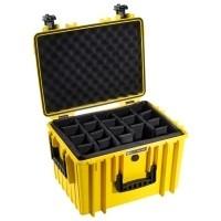 Walizka transportowa B&W outdoor.cases Typ 5500 RPD z przegrodami Żółta
