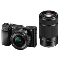 Sony A6000 czarny + obiektywy 16-50mm f/3,5-5,6 OSS + 55-210mm f/4,5-6,3 OSS