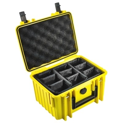 Walizka transportowa B&W outdoor.cases Typ 2000 RPD z przegrodami Żółta - WYSYŁKA W 24H, B&W International, B&W-2000/Y/RPD, 4031541703385, Kufry i walizki transportowe