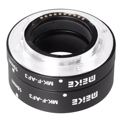 Pierścienie pośrednie makro Meike do Fuji X - WYSYŁKA W 24H, Meike, MK-F-AF3, , Konwertery i pierścienie makro