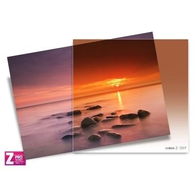 Filtr Cokin Z125F - połówkowy tabaczkowy z miękkim przejściem koloru przez cały filtr z serii Z-PRO, Cokin, Z125F, , Rozmiar L (Seria Z-PRO)