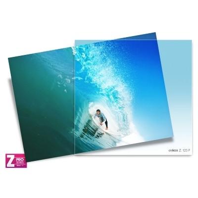 Filtr Cokin Z123F - połówkowy niebieski z miękkim przejściem koloru przez cały filtr z serii Z-PRO Z123F