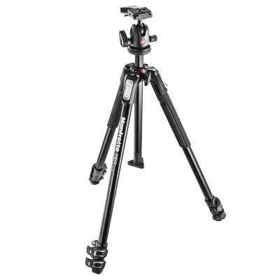 Statyw fotograficzny Manfrotto MK190X3-BH z głowicą 496RC2, Manfrotto, MK190X3-BH, 8024221635317, Statywy fotograficzne
